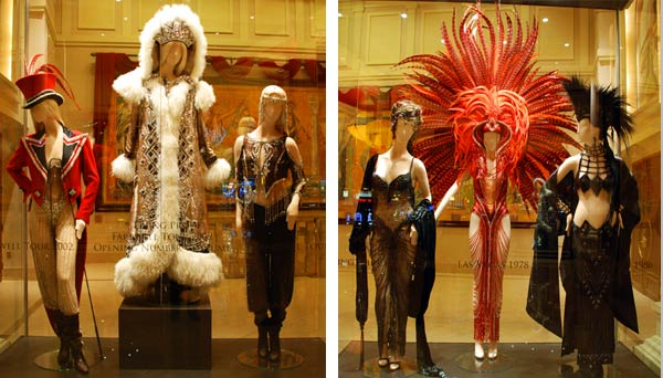 Cher costumes on display at Caesars Palace in Las Vegas