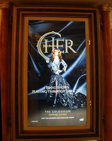 Cher poster from Caesars Palace, Las Vegas