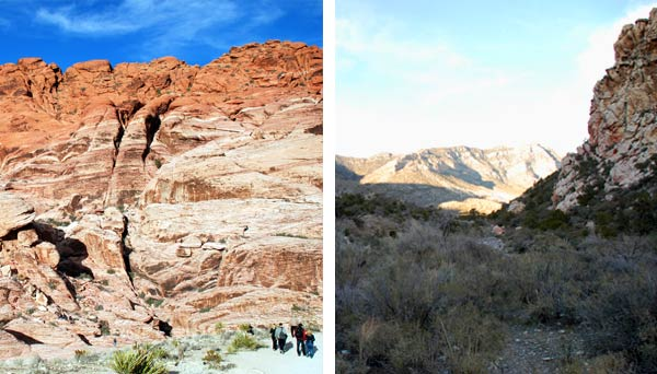Red Rock Canyon and hiking trail