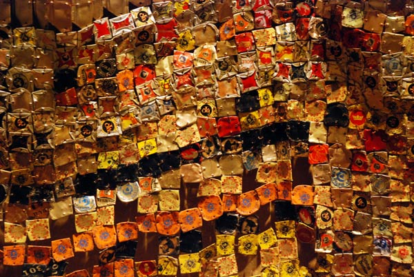 Closeup of Between Earth and Heaven by El Anatsui