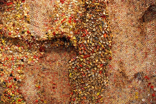 Detail for El Anatsui work