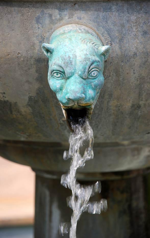 Fountain at the Getty Villa, San Diego, CA