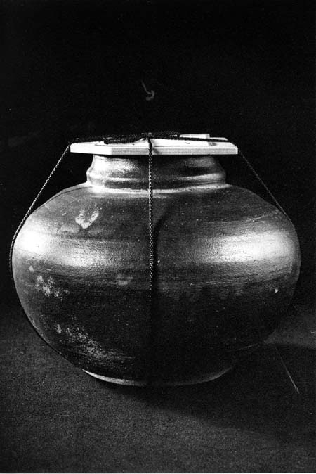 Large pottery jar of nure natto (sweetened fermented soybeans); Photo by Michikazu Sakai from How to Wrap 5 More Eggs by Hideyuki Oka