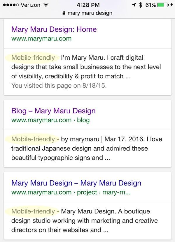 google mobile friendly search tag