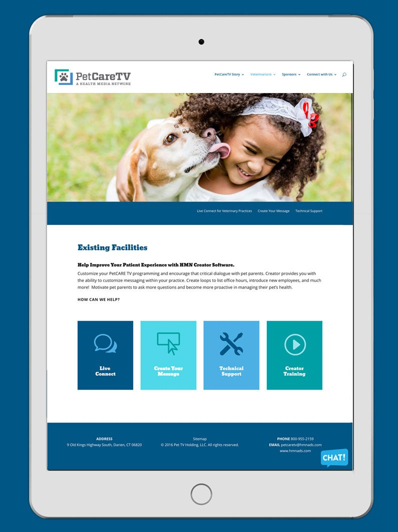 petcare tv existing facilities on ipad