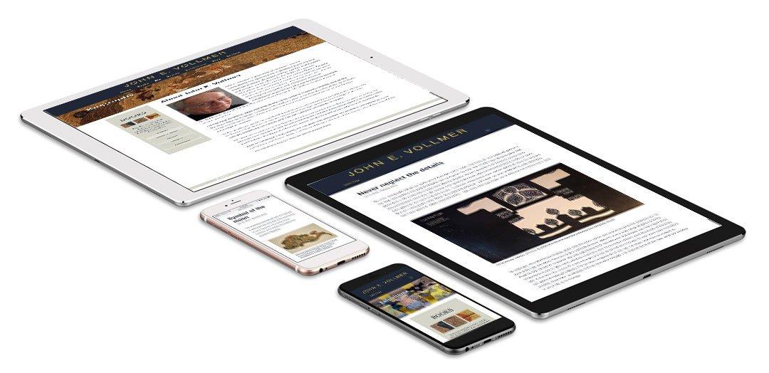 Vollmer website mobile views