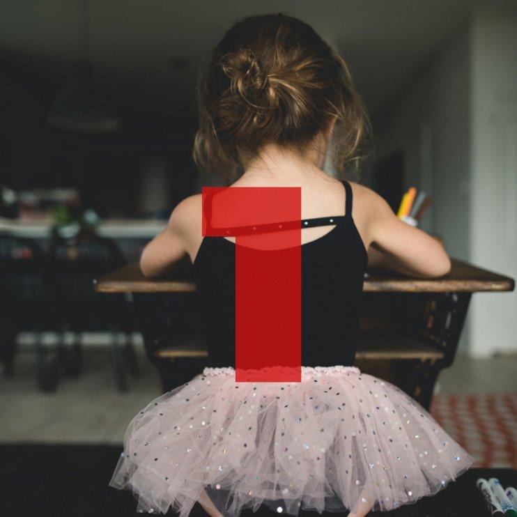 little ballerina doing homework