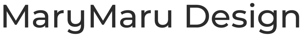 mary maru design wordmark
