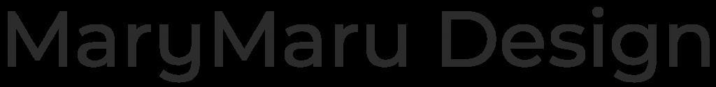 mary maru design wordmark